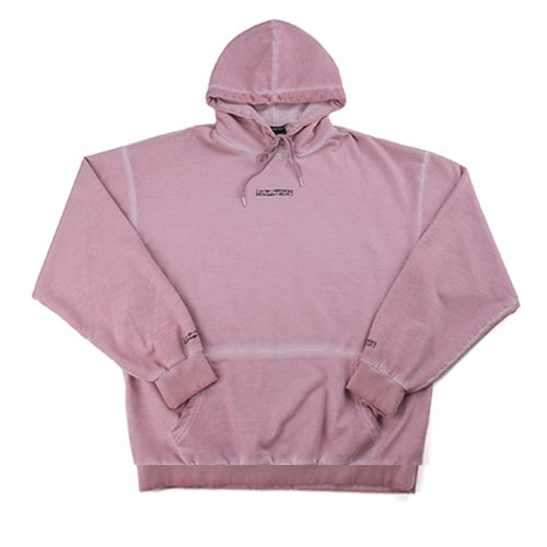 Washed Drop Hoodie (HAND MADE) - PINK