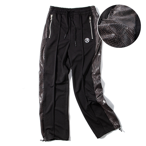[KING] Python Track Pants - Black