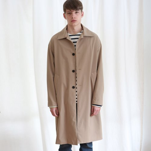 [ANOUTFIT] UNISEX SINGLE TRENCH COAT BEIGE