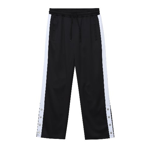 [ANOUTFIT] UNISEX SIDE BANDING TRACK PANTS BLACK