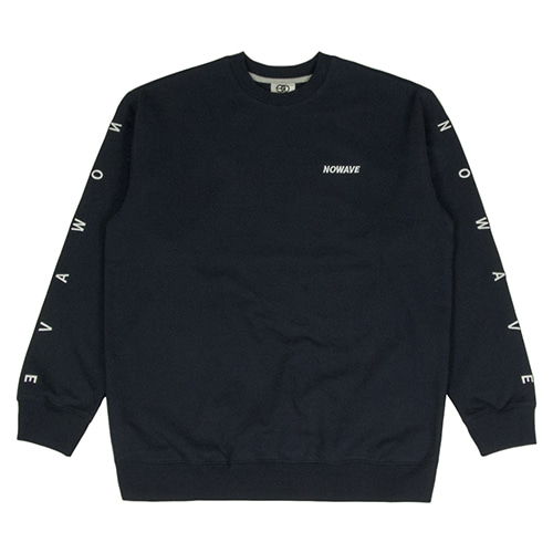 [NOWAVE] LETTERING SWEAT SHIRT - Navy