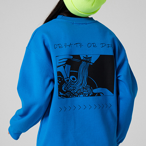 [매드마르스] RAMEN SWEATSHIRT_AQUABLUE