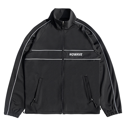 [NOWAVE] SCOTCH LINE TRACK TOP - Black