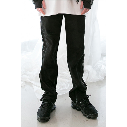 [ANOTHERYOUTH] zipper pants - black