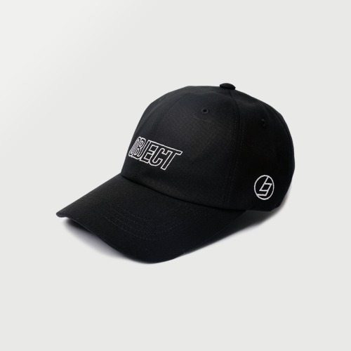 [OBJECT] OBJECT LOGO CAP - BLACK/WHITE