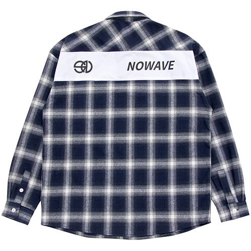 [NOWAVE] PATCH CHECK SHIRT - Blue