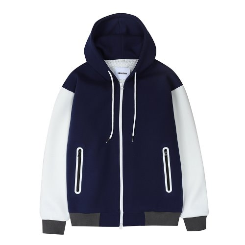[ANOUTFIT] UNISEX PWC WELDING HOOD ZIP-UP NAVY