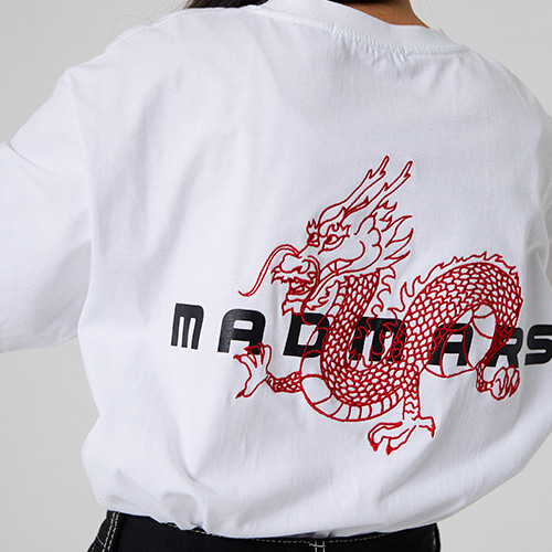 [매드마르스] DRAGON EMBROIDERED T-SHIRT_WHITE