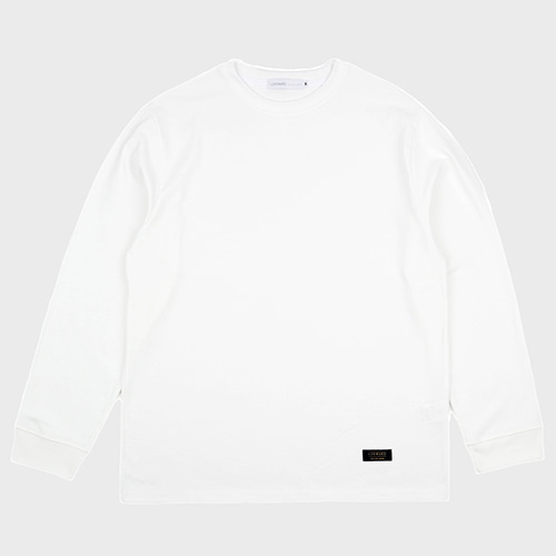 BASIC LONG SLEEVE TEE (WHITE)