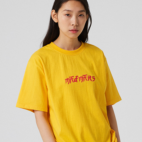 [매드마르스] BRUSH LOGO T-SHIRT_YELLOW