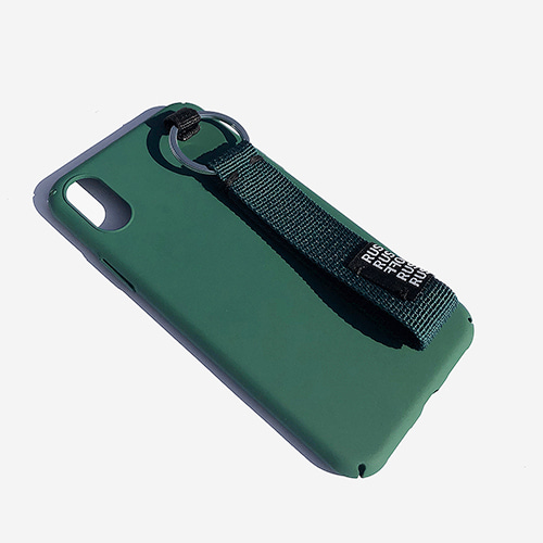 [RUSHOFF] Newness Casual Belt Kyering IPhone Case - Green / 뉴니스 캐주얼 벨트 키링 아이폰케이스 - 그린
