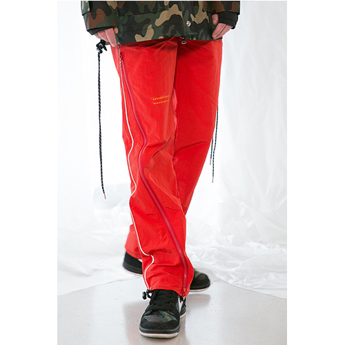 [ANOTHERYOUTH] zipper pants - red