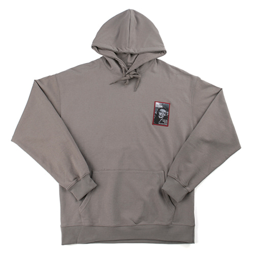 Art Embroidery Hoodie - CHARCOAL GREY