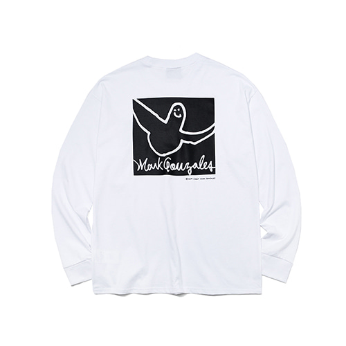 [MARKGONZALES] COLLAR ANGEL LONG SLEEVE - WHITE