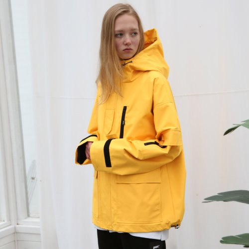 [ANOUTFIT]UNISEX TECH WINDBREAKER YELLOW