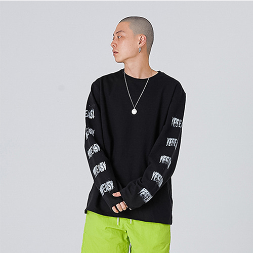 [YESEASY] SPRAY LONG SLEEVE - BLACK