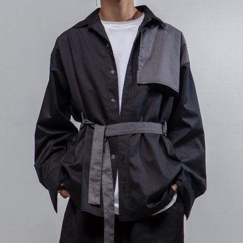 [MEDARYUTO] TRENCH MOOD OVERFIT SHIRT JACK