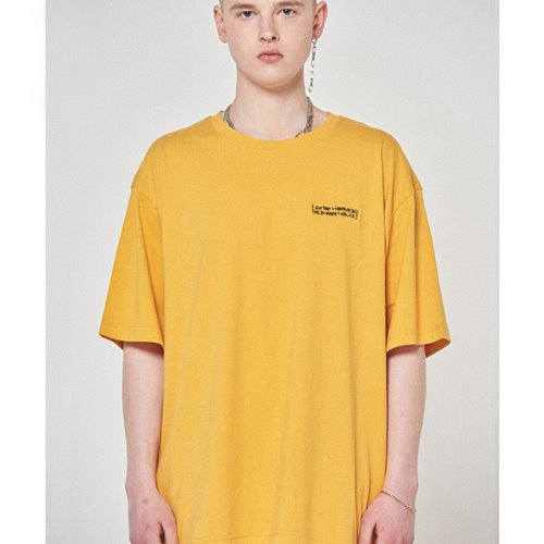 Embroidery Front Tee - MARIGOLD
