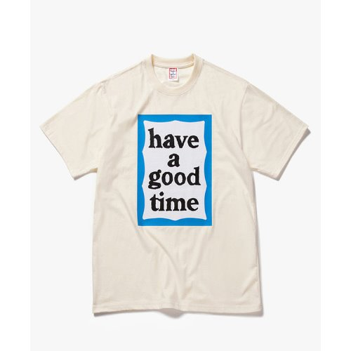 [Have a good time] Big Blue Frame S/S Tee - CREAM