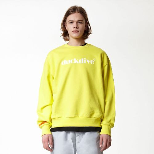 [DUCK DIVE] EMOTION LOGO_CREWNECK_LIGHT YELLOW
