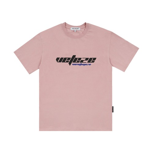 [VETEZE] True Up Half T-Shirts (indi pink)