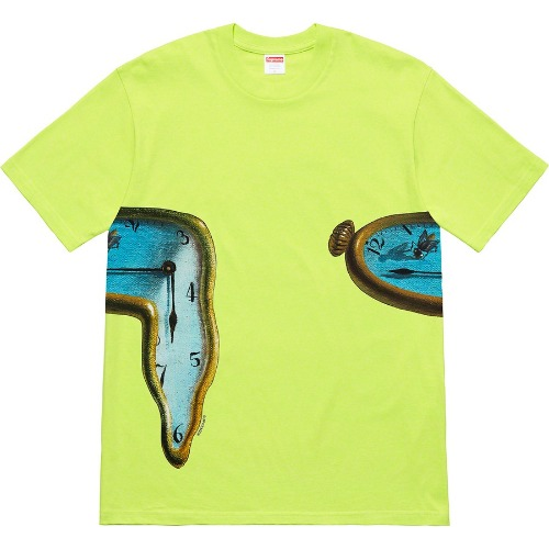 [Supreme] The Persistence Of Memory Tee - Neon Green