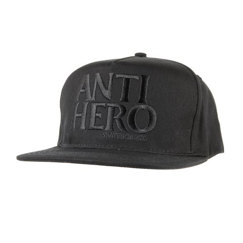 [Anti Hero] BLACKHERO Snapback Hat - BLACK/BLACK 50020090B00