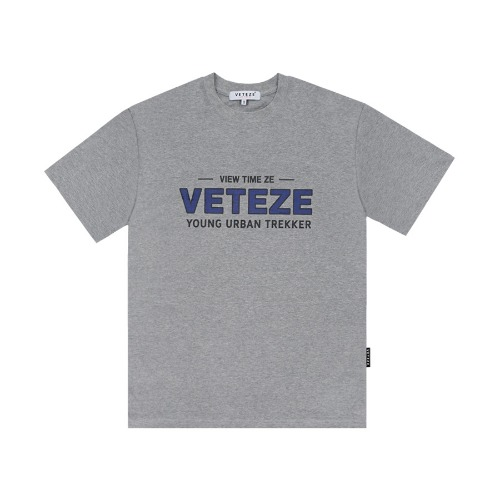 [VETEZE] Authentic Half T-Shirt (gray)