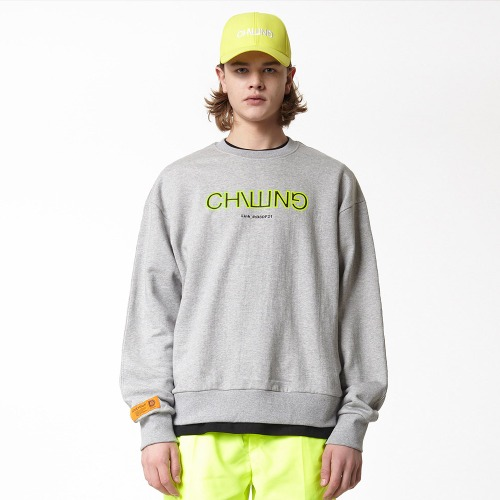 [DUCK DIVE] CHILLING_CREWNECK_GRAY