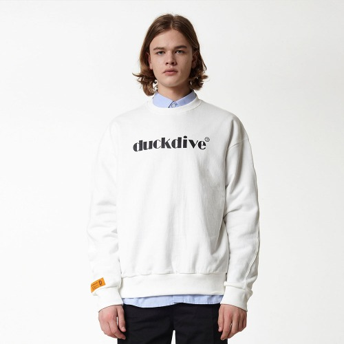 [DUCK DIVE] EMOTION LOGO_CREWNECK_OFF WHITE