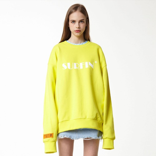 [DUCK DIVE] SURFING_CREWNECK_LIGHT YELLOW