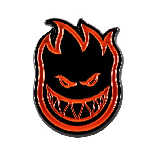 [Spitfire] BIGHEAD Lapel Pin - BLACK/RED 67010075A00
