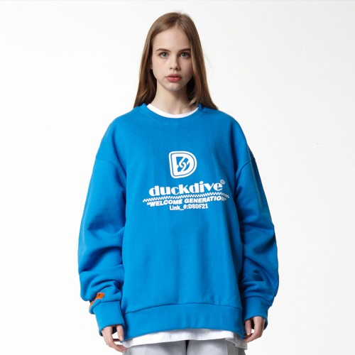 [DUCK DIVE] HYPERLIKE_CREWNECK_LIGHT BLUE