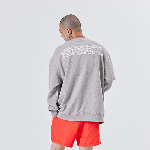 [YESEASY] LOGO SWEATSHIRT - GRAY