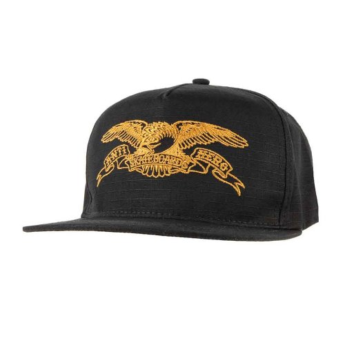 [Anti Hero] BASIC EAGLE Snapback Hat - BLACK/BROWN 50020088A00