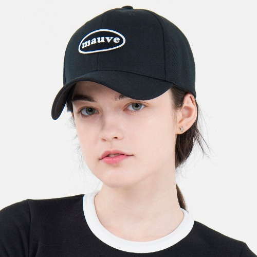 [MAUVE] CIRCLE LOGO CAP (black)