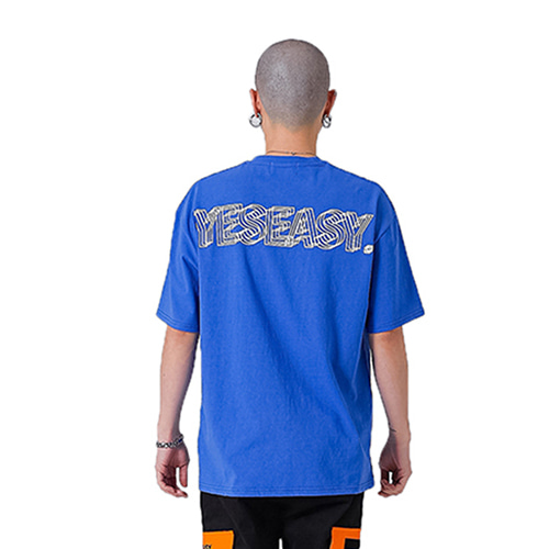 [YESEASY] LOGO T_SHIRT - BLUE