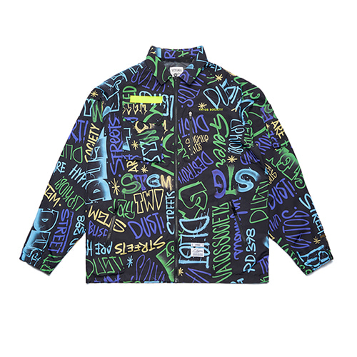 [STIGMA]STGM TECH OVERSIZED COACH JACKET - PATTERN