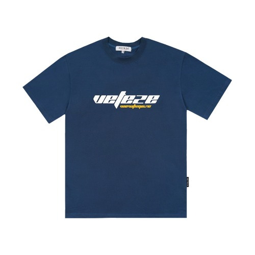 [VETEZE] True Up Half T-Shirts (deep blue)