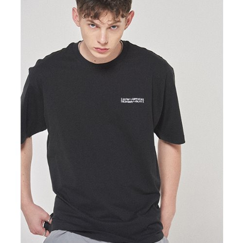Embroidery Front Tee - BLACK