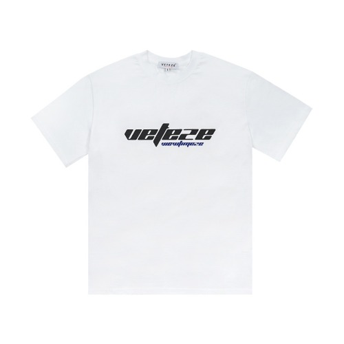 [VETEZE] True Up Half T-Shirt (white)
