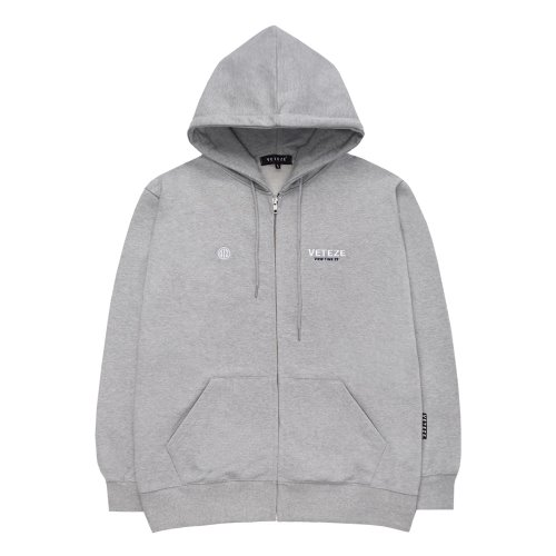 [VETEZE] Circle Logo Hood Zipup (gray)