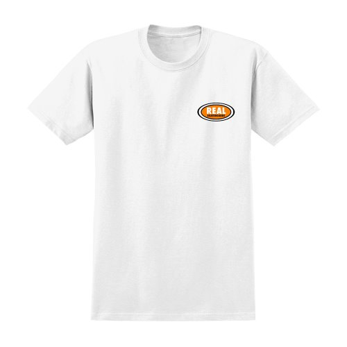 [REAL] SMALL OVAL S/S T-Shirt - WHITE/ORANGE 51021334C