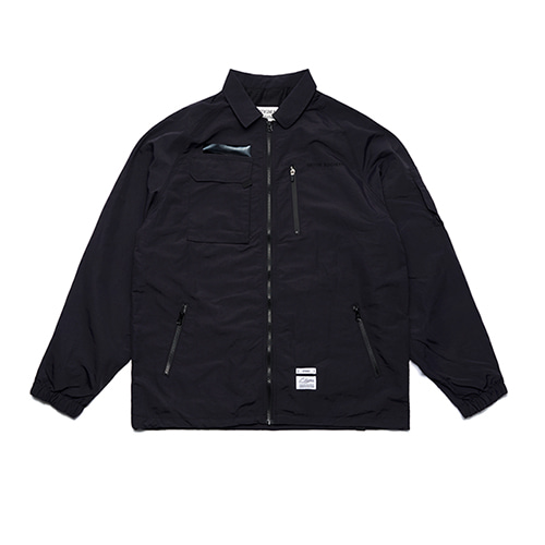 [STIGMA]STGM TECH OVERSIZED COACH JACKET - BLACK