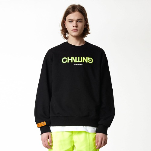 [DUCK DIVE] CHILLING_CREWNECK_BLACK