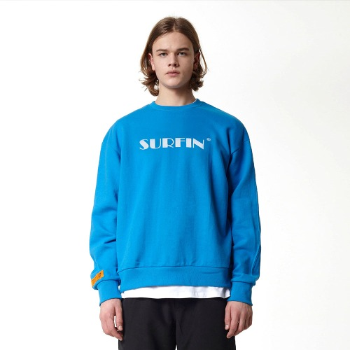 [DUCK DIVE] SURFING_CREWNECK_LIGHT BLUE