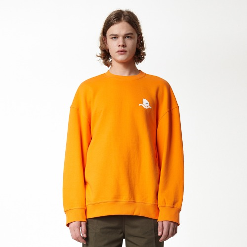 [DUCK DIVE] SURFBOARD_CREWNECK_ORANGE