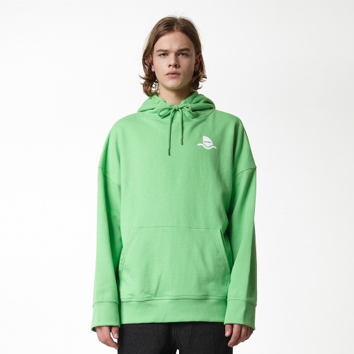 [DUCK DIVE] SURFBOARD_HOODIE_YELLOW GREEN