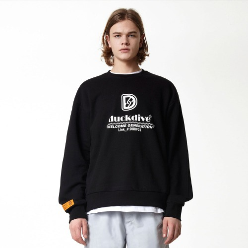 [DUCK DIVE] HYPERLIKE_CREWNECK_BLACK