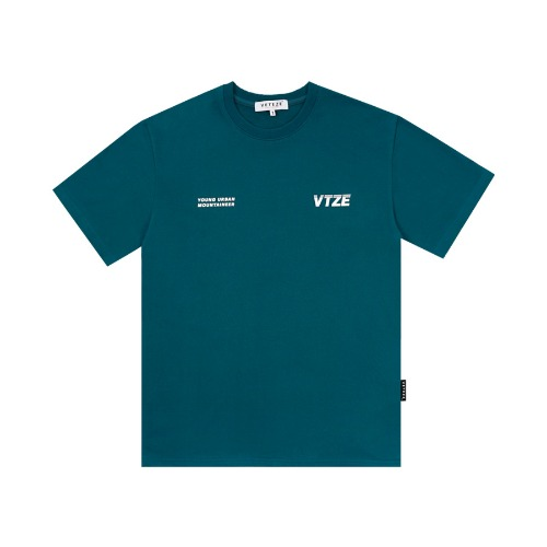 [VETEZE] Urban Half T-Shirts (blue green)